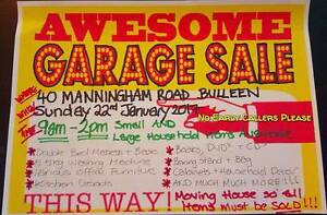 Moving Sale Household Goods, Decor &More Bulleen Manningham Area Preview