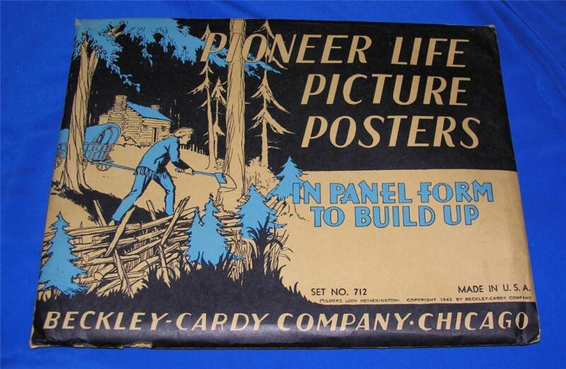 VTG 1942 THANKSGIVING UNUSED PIONEER LIFE PANEL POSTERS, CUT OUT CRAFTS iop