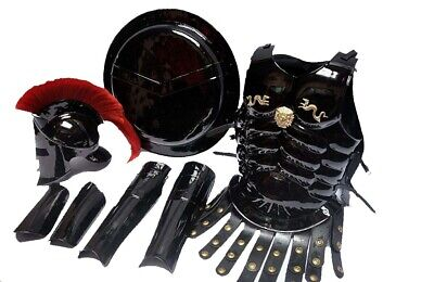 MEDIEVAL 300 SPARTAN KING HELMET SET MUSCLE ARMOUR SUIT SHIELD LEG & ARM GUARD - Spartan Suit