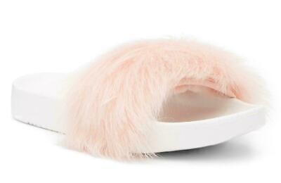 New in Box - UGG Australia Royale Genuine Lamb Fur Baby Pink Slide Size 10