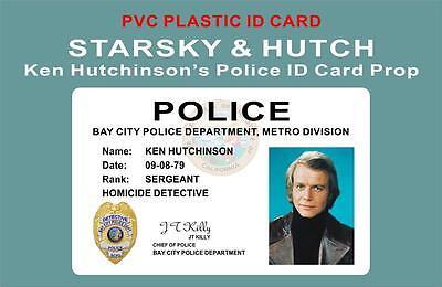 STARSKY & HUTCH ID Card / Badge Prop - KEN HUTCHINSON'S POLICE ID CARD - PVC