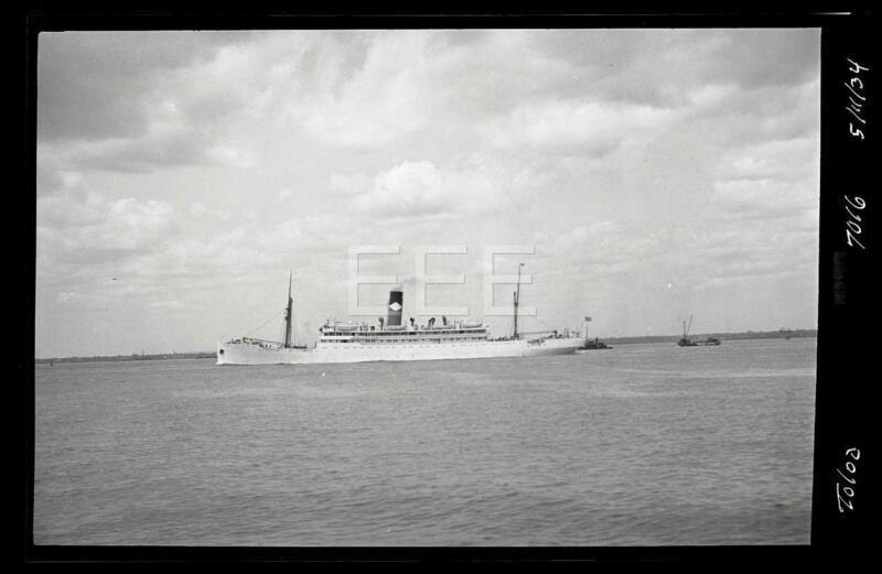 1934 SS Toloa Ocean Liner Ship Old Photo Negative 655B