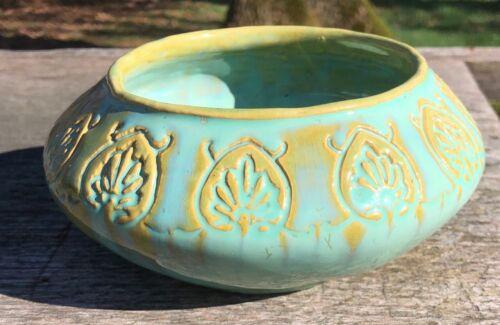 Fulper Pottery Crystalline Jade Rutgers Student Piece Vase Bowl