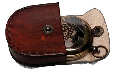 Antiques Vintage Antique Maritime Brass Pocket Watch Kelvin & Hughes With Wooden Box Gift High Standard In Quality And Hygiene Other Maritime Antiques