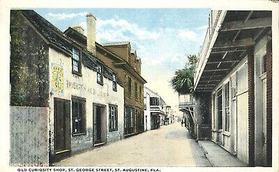 Old Curiosity Shop St George  St Augustine 1910 Postcard Florida Architecture