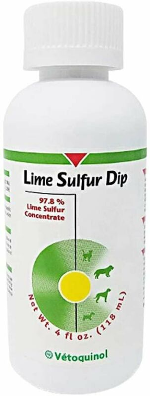 Vetoquinol Lime Sulfur Dip for Dogs and Cats, 4oz