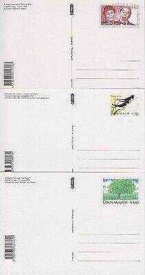 Dänemark P 306, 307, 308 ** Ganzsache Satz, GA 1999, postfrisch, MNH