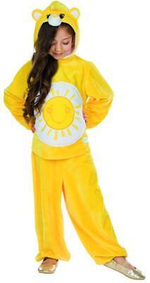Glücksbärchi Sonnenscheinbärchi Kinder Kostüm Karneval Pyjama Sunshine gelb - Glücksbärchi Kostüm Kinder