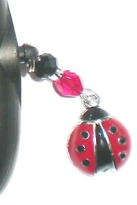 Beautiful Red Ladybug Dust Cover Cell PHONE Charm