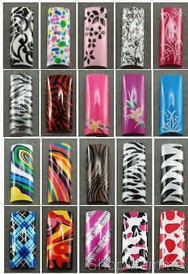 Selections of Designer French Nail Tips (with Well) in 10 sizes - Set C