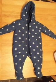 Blue star snow suit age 3-6 months
