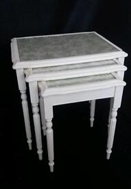 Shabby Chic Nest of Pale Cream Tables