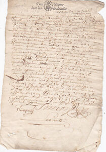 OLD FRENCH LEGAL  DOCUMENT - 1676 - GENERALITE DE PARIS