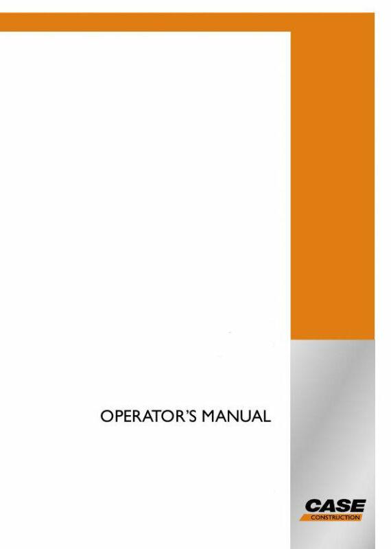 CASE CE CX800B OPERATOR`S MANUAL