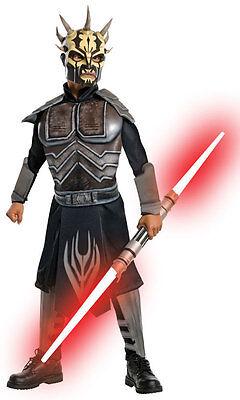 black SAVAGE OPRESS star wars clone attack boys kids halloween costume SMALL 4-6](Savage Opress Halloween Costume)