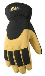 Wells Lamont Insulated Winter Glove Synthetic Leather Med Lined 100 Gram Carded