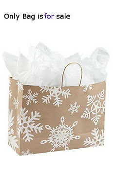 Giant Snowflake Paper Large Shopping Bags 16 W X 6 D X12 H Inch - Lot Of 100