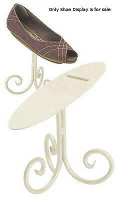 New Retails Creamy Ivory Finished Shoe Display Stand - 6 Inches