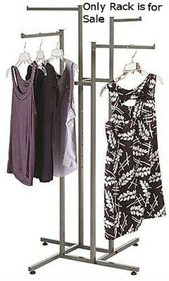 4 Way Clothing Rack With Straight Arms - 48 To 72 Inch Adjustable