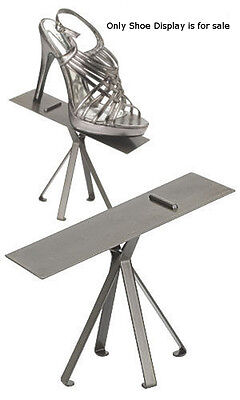 Shoe Display Stand in Raw Steel 6 -