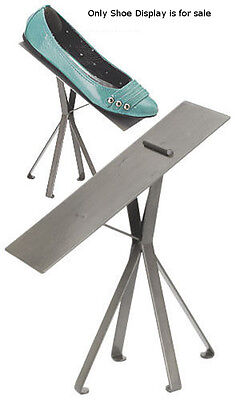 New Retails Raw Steel Finished Shoe Display Stand - 8 Inches