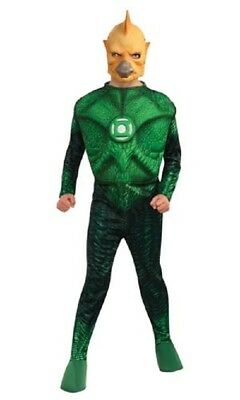 Kids Green Lantern Costume (Boys Child Green Lantern Deluxe Muscle Chest Tomar-Re Costume W/)