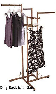 4 Way Clothing Rack In Cobblestone 48-72h Inches With Straight Arms
