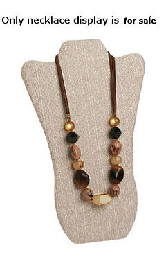Tall Linen Necklace Display 8 34 W X 14 L Inches