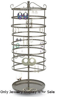 Steel Large Tiered Round Rotating Jewelry Display 24 Inches