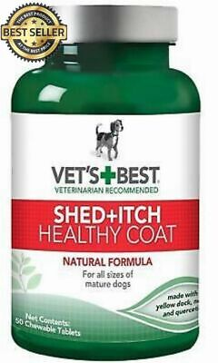 Vet's Best Healthy Coat Shed and Itch Relief Dog Supplements, 50