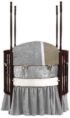 4 Piece Baby Doll Round Crib Bedding Set Olive