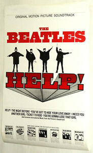 THE BEATLES HELP POSTER VINTAGE AND RARE! JOHN LENNON