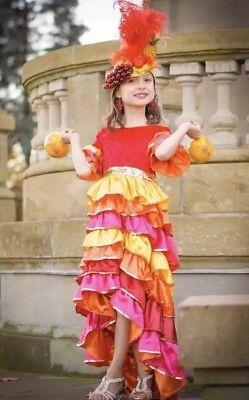 Spanish Girl Costume (Chasing Fireflies Spanish Mexican Cha Cha Girl Costume ~ Wishcraft ~Size)