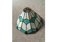 Vintage mint green art deco tiffany lampshade