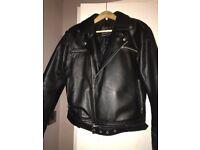 Black Leather jacket Negan style from walking dead
