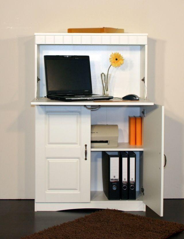 vanessa sekret r schrank kommode schreibtisch regal mdf wei 1 klappe 2 t ren eur 189 00. Black Bedroom Furniture Sets. Home Design Ideas