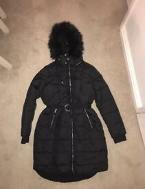 Whistles black Harris padded parka coat size M