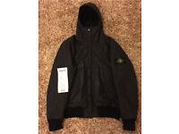 Genuine size large Black Stone island jacket for sale