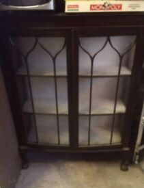 China cabinet, about 120 years old, nice piece in good condition its only £60.00