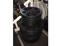 Rubber coated Olympic weight plates, 195kg