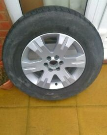 Land rover Freelander all weather tyre and alloy wheel
