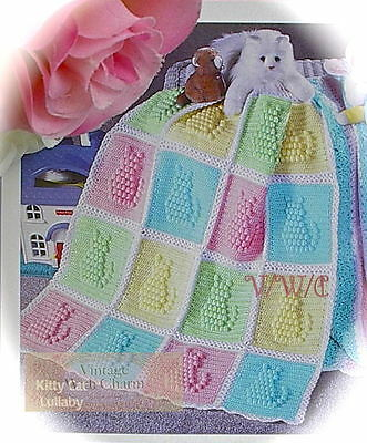 (Crochet Pattern Baby Afghan Blanket Kitty Cat Lullaby JUST £2.49 + FREE P&P!!)