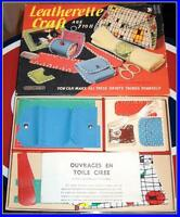 VINTAGE LEATHERETTE Purse Making Craft Kit by JW Spear's & Sons
