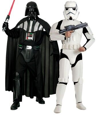 Adult DELUXE DARTH VADER or DELUXE STORM TROOPER Star Wars Fancy Dress Costume](Darth Vader Costumes)