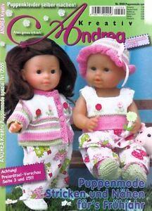 ANDREA # 0559 Puppenmode Stricken Häkeln Nähen für`s Frühjahr