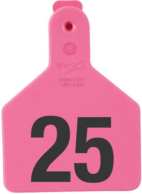 Z Tags Calf Ear Tags Pink Numbered 1-25