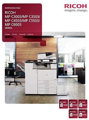 Ricoh Aficio Mp C4503 Color Multifunction Copier Printer Scan 45ppm A3 4 Trays