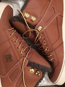 Brand New DC Brown Shoes (Fur inside) Size 13