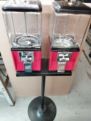 Duel Northwestern Model 60 Candy Nut And Bubble Gum Vending Machines W Stand