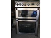 Hotpoint HUG61X Ultima Gas Cooker, Stainless Steel, 600mm wide, This model still for sale in J Lewis